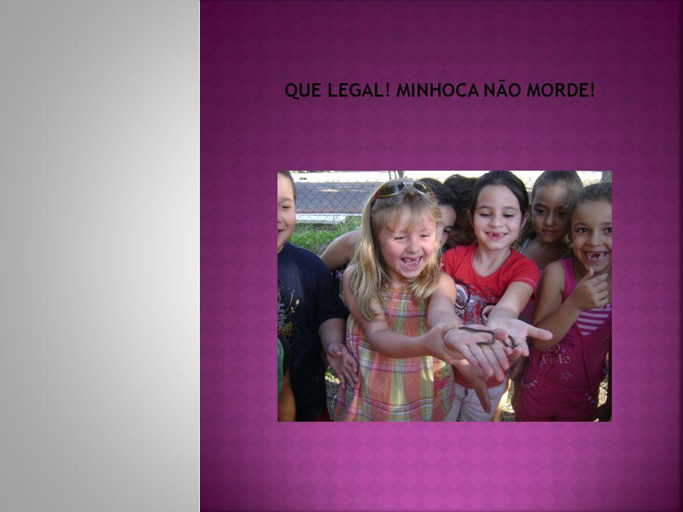 QUE LEGAL! MINHOCA NÃO MORDE!