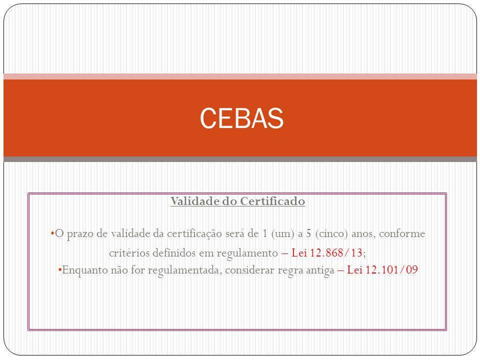 Validade do Certificado
