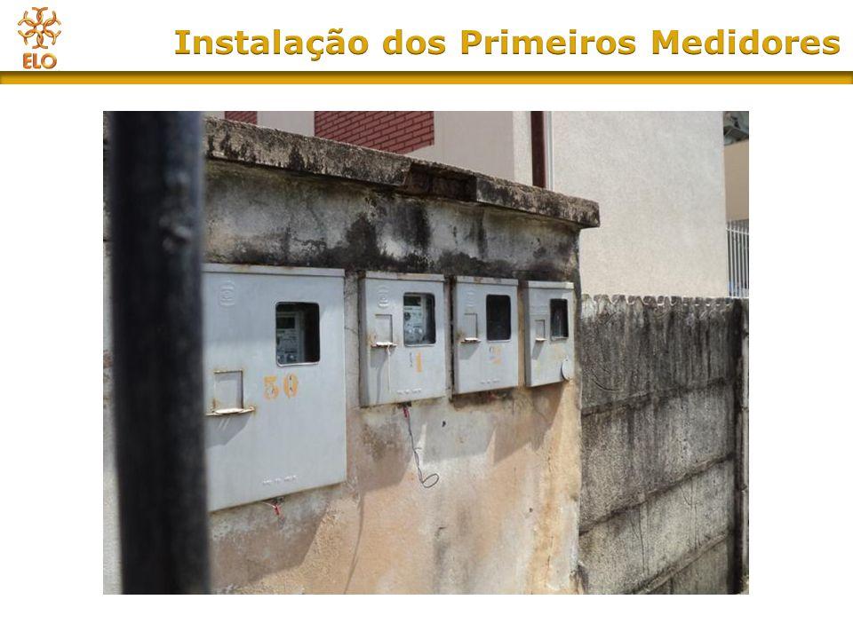 Instalação dos Primeiros Medidores