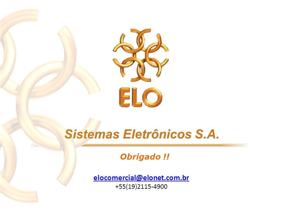Obrigado !! elocomercial@elonet.com.br +55(19)2115-4900