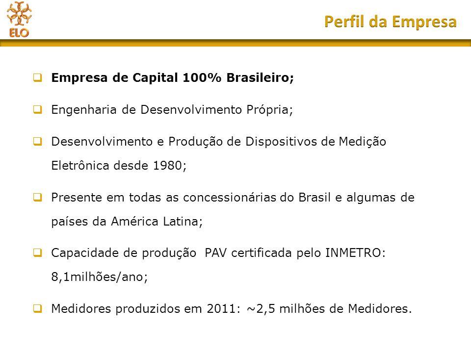 Perfil da Empresa Empresa de Capital 100% Brasileiro;