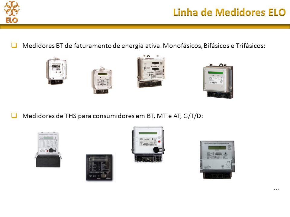 Linha de Medidores ELO Medidores BT de faturamento de energia ativa. Monofásicos, Bifásicos e Trifásicos: