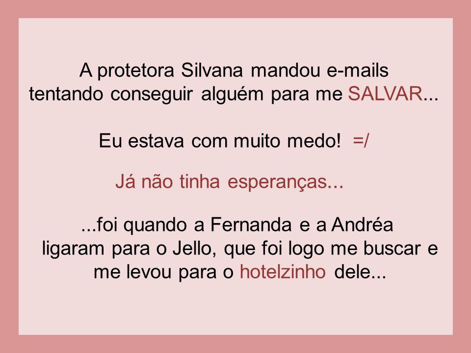 A protetora Silvana mandou e-mails
