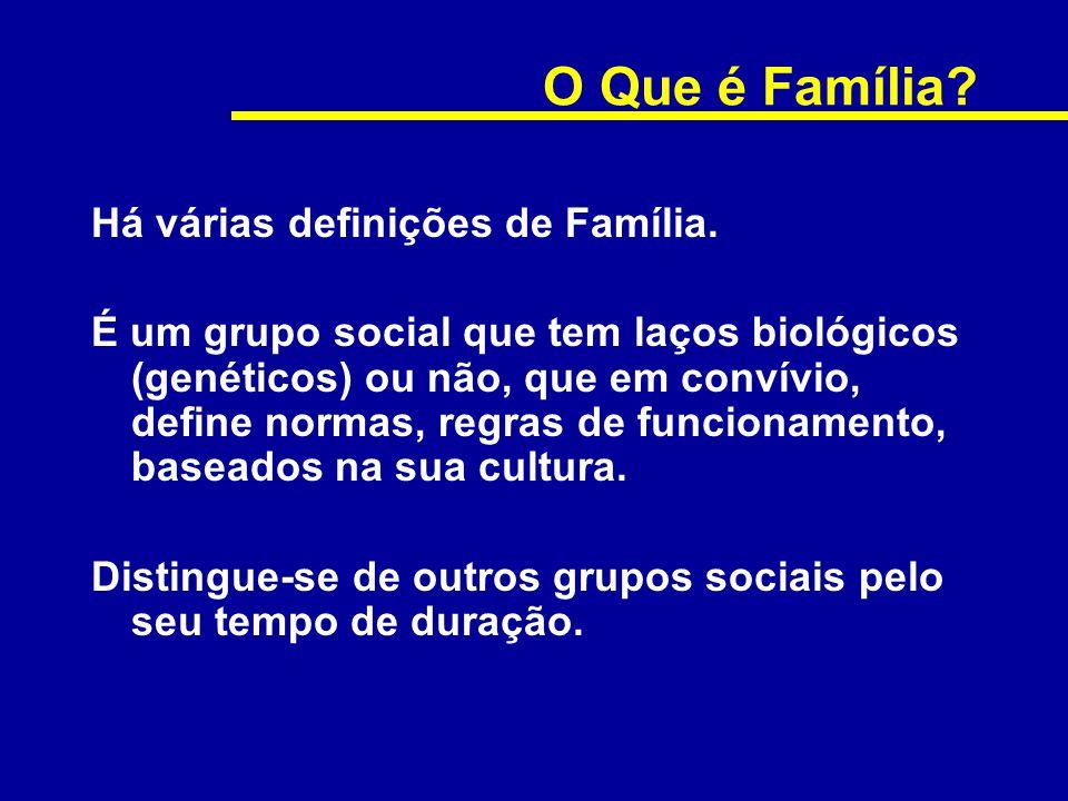 O Que é Família Há várias definições de Família.