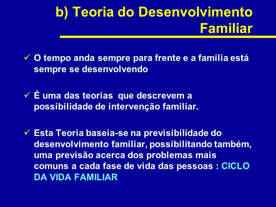 b) Teoria do Desenvolvimento Familiar