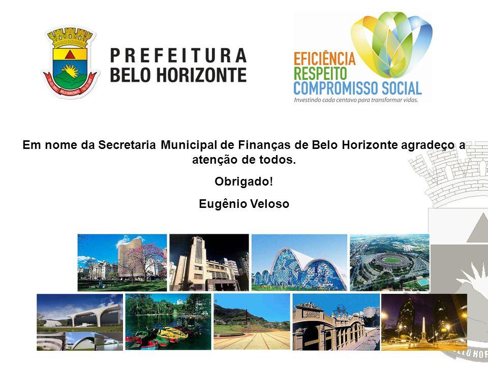 Em nome da Secretaria Municipal de Finanças de Belo Horizonte agradeço a atenção de todos.