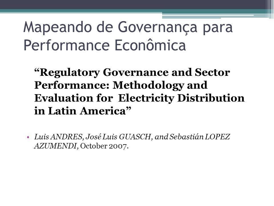Mapeando de Governança para Performance Econômica