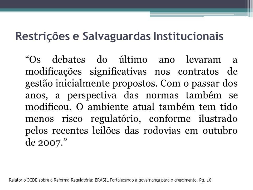 Restrições e Salvaguardas Institucionais