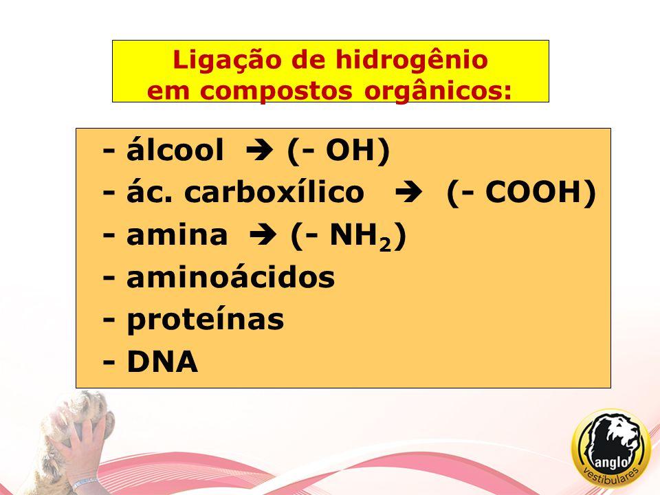 Ligação de hidrogênio em compostos orgânicos: