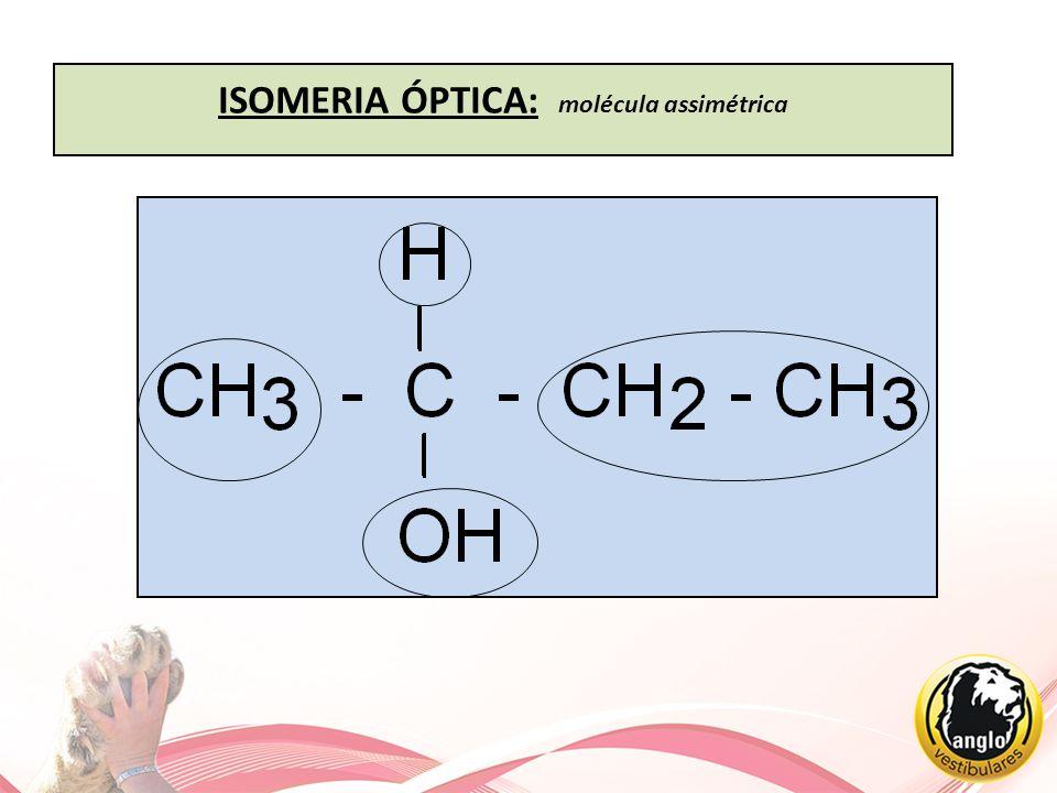 ISOMERIA ÓPTICA: molécula assimétrica