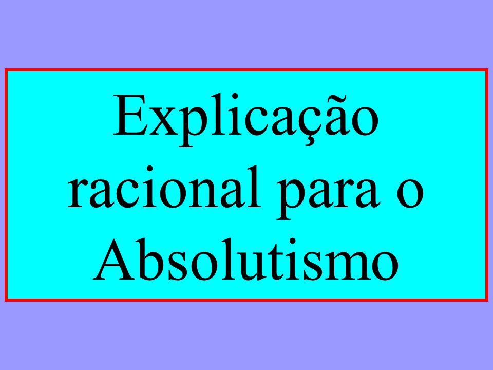 Explicação racional para o Absolutismo
