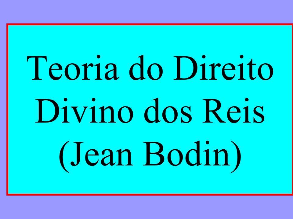 Teoria do Direito Divino dos Reis (Jean Bodin)