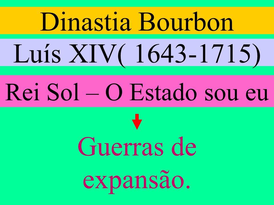 Dinastia Bourbon Luís XIV( 1643-1715) Guerras de expansão.