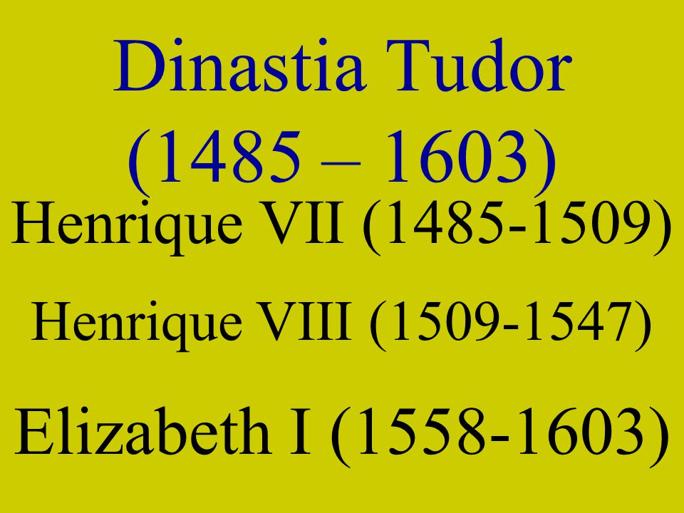 Dinastia Tudor (1485 – 1603) Elizabeth I (1558-1603)