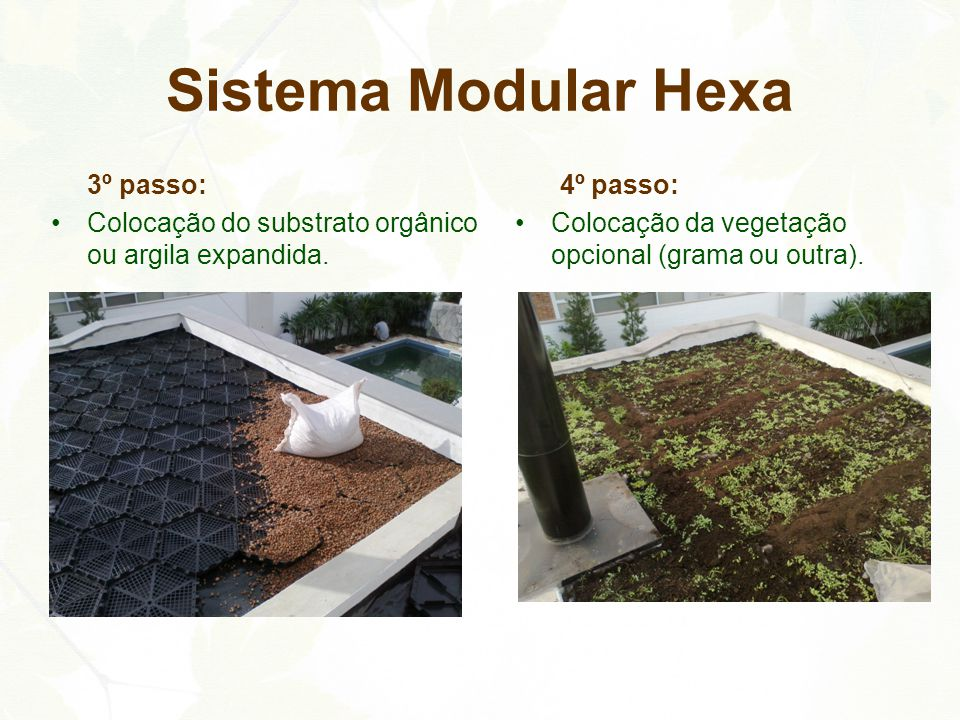 Sistema Modular Hexa 3º passo: