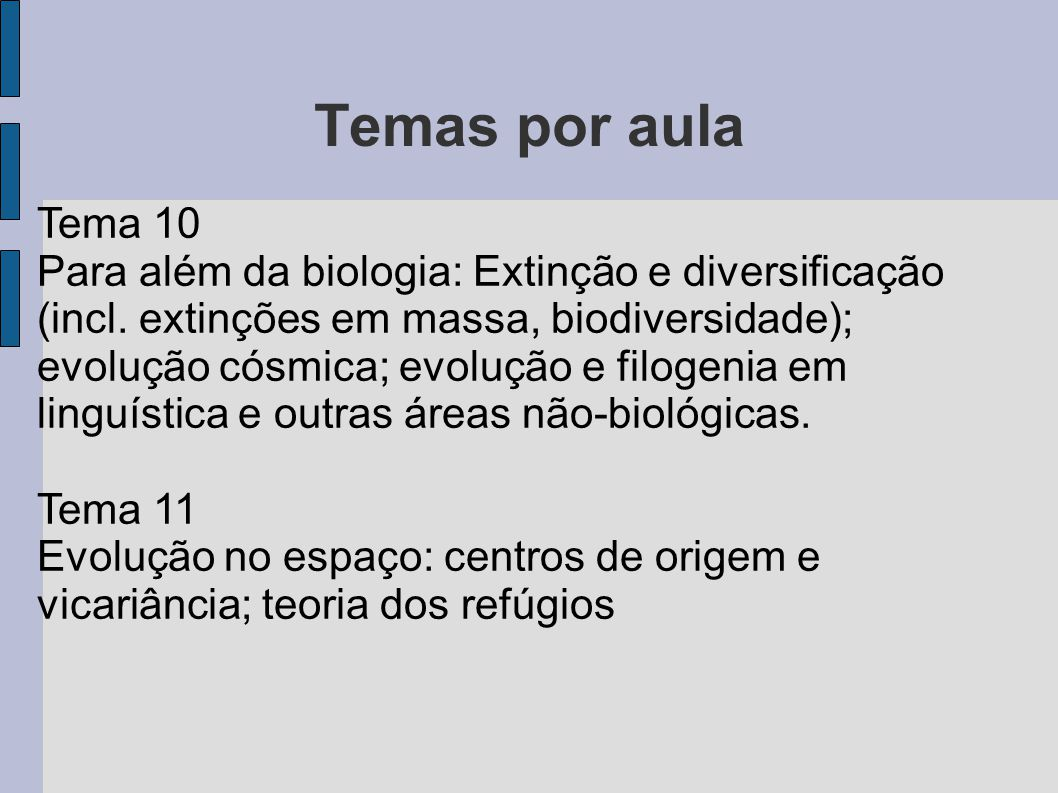 Temas por aula Tema 10.