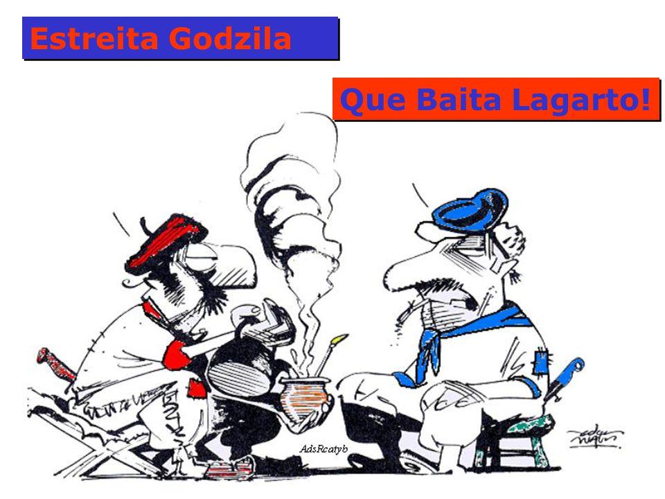Estreita Godzila Que Baita Lagarto!