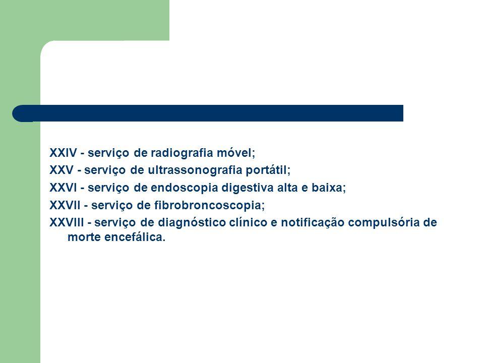 XXIV - serviço de radiografia móvel;