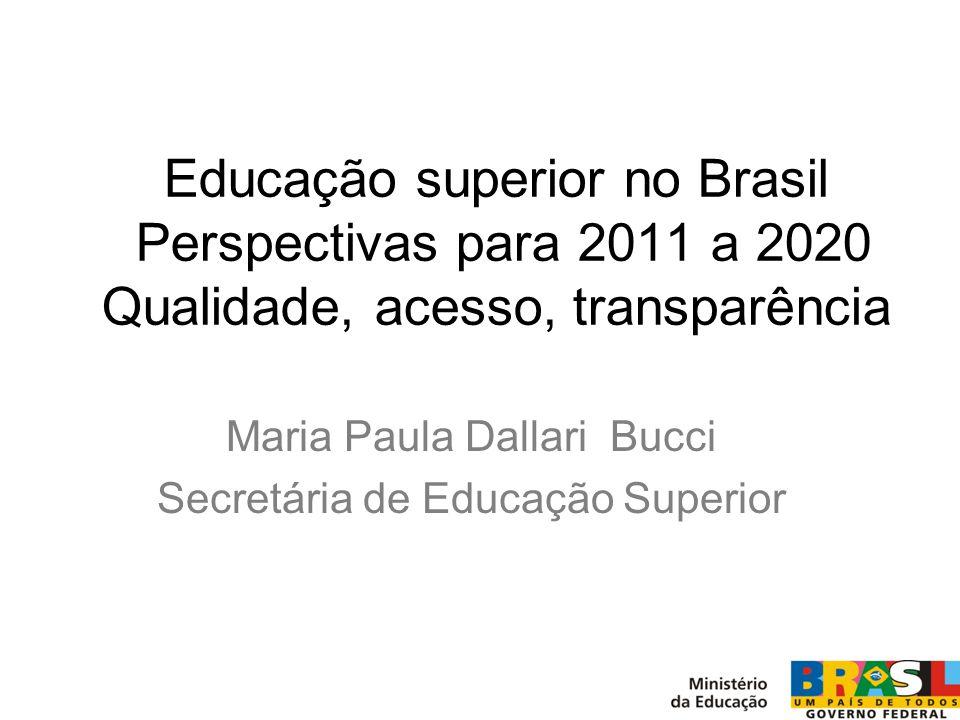 Maria Paula Dallari Bucci Secretária de Educação Superior