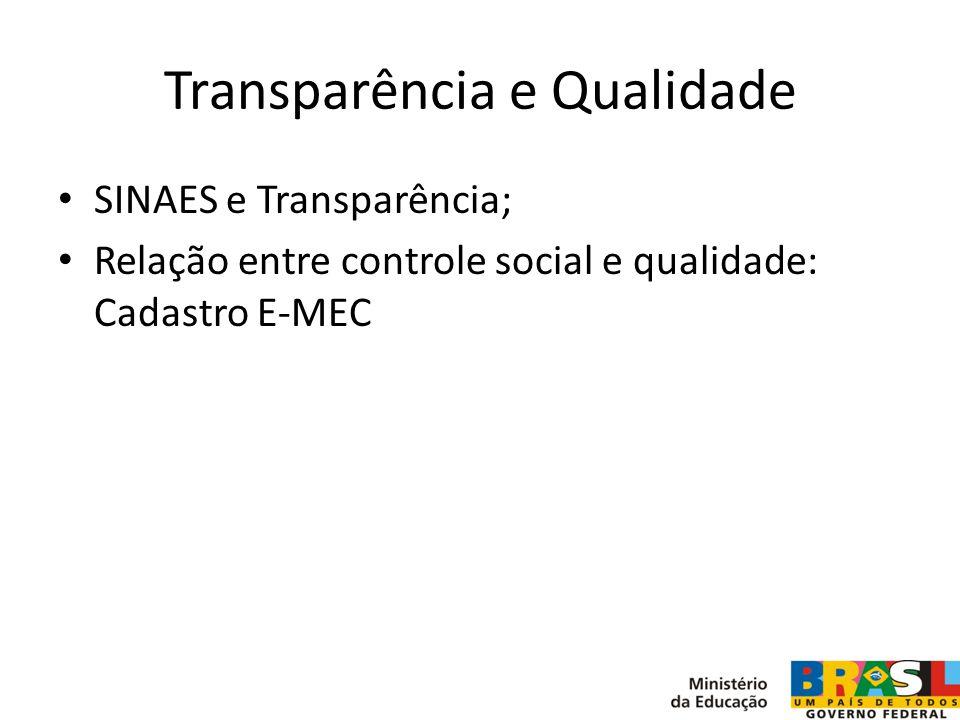 Transparência e Qualidade