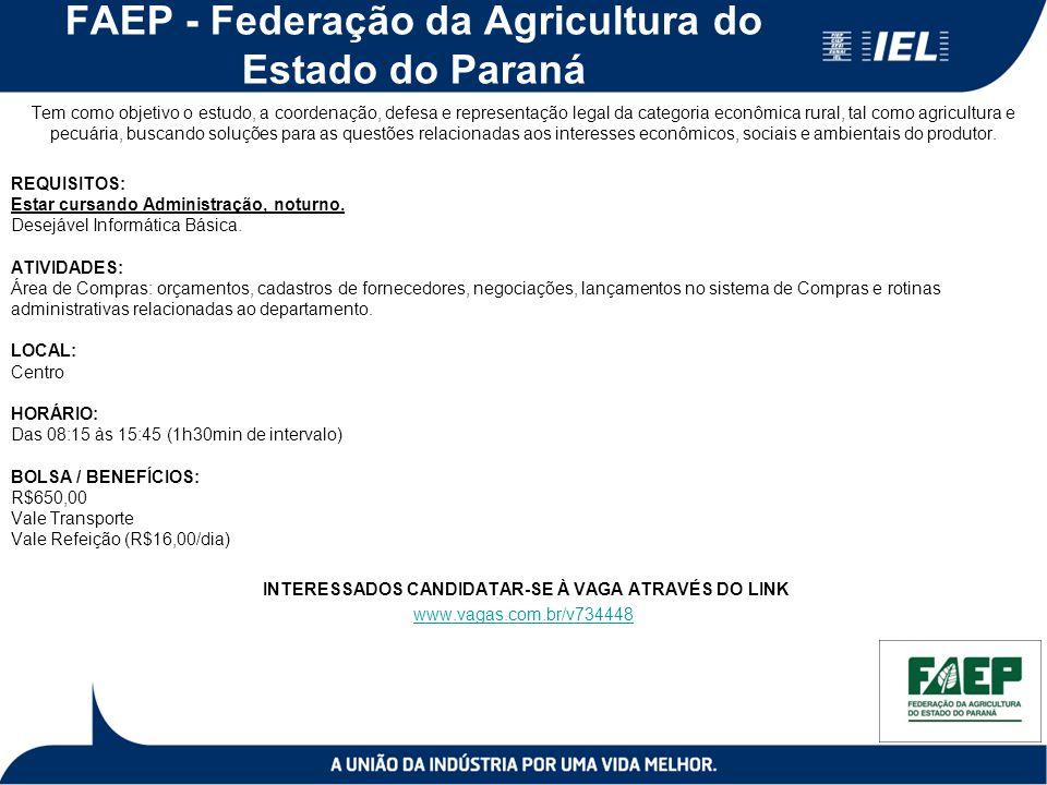 FAEP - Federação da Agricultura do Estado do Paraná