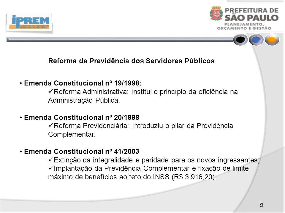 Reforma da Previdência dos Servidores Públicos