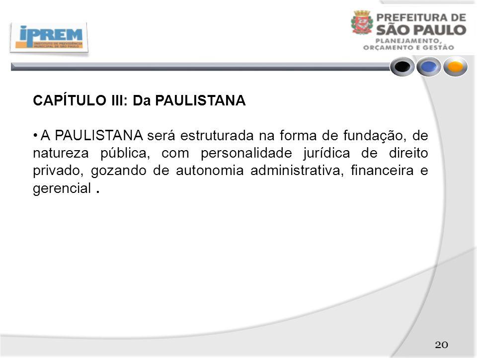 CAPÍTULO III: Da PAULISTANA