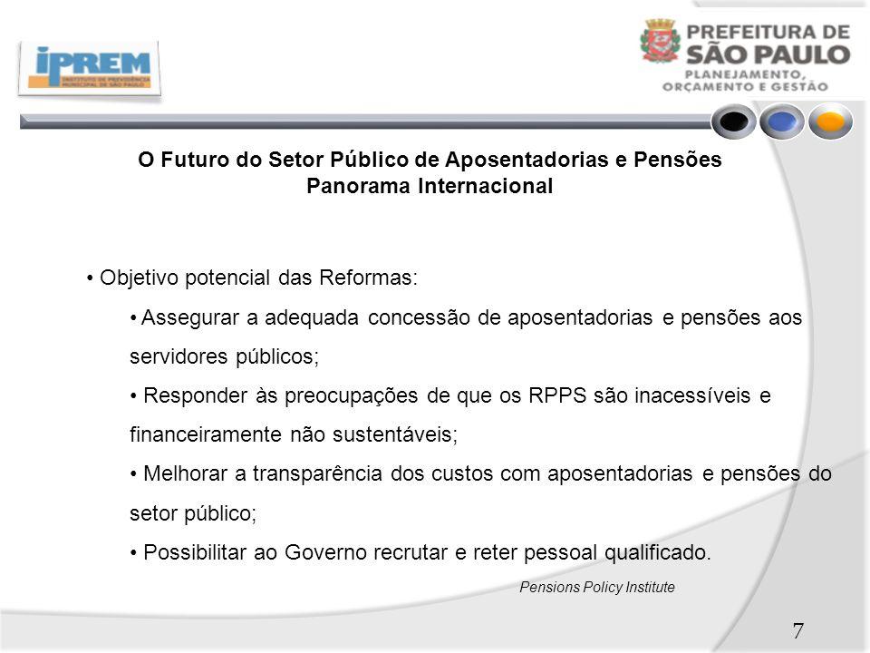 Objetivo potencial das Reformas: