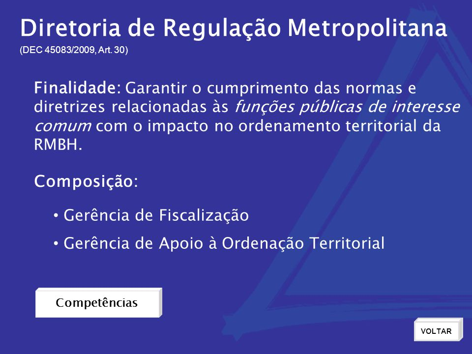 Diretoria de Regulação Metropolitana