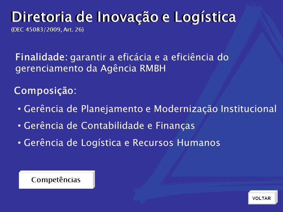 Diretoria de Inovação e Logística Diretoria de Inovação e Logística
