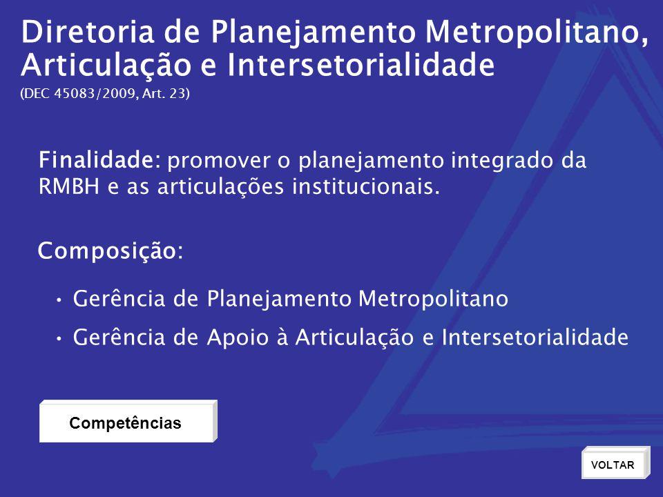 Diretoria de Planejamento Metropolitano,