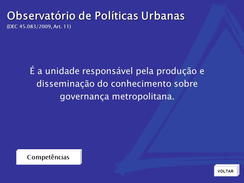 Observatório de Políticas Urbanas