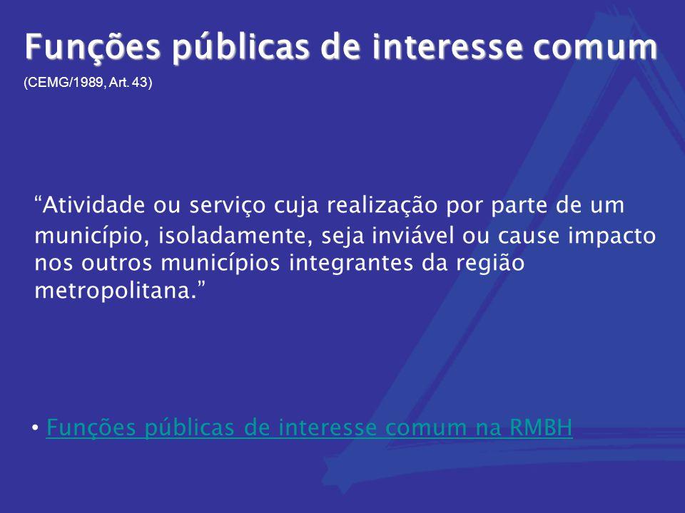 Funções públicas de interesse comum