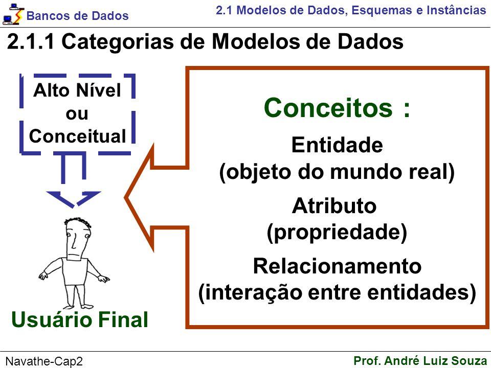 Conceitos : 2.1.1 Categorias de Modelos de Dados