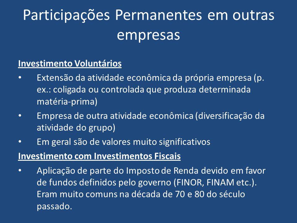 Participações Permanentes em outras empresas