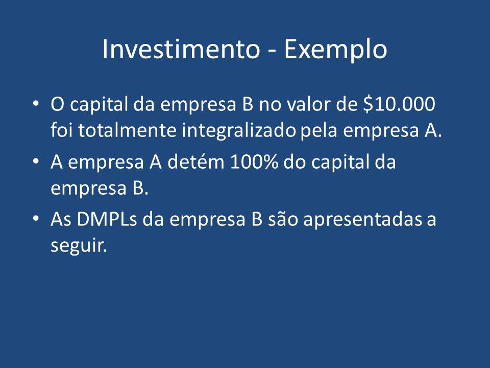Investimento - Exemplo