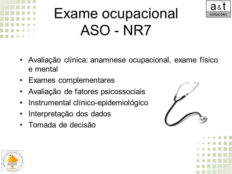 Exame ocupacional ASO - NR7