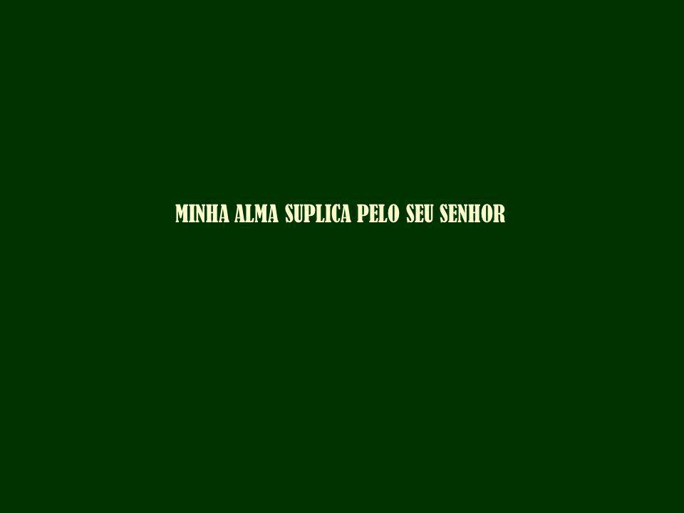 MINHA ALMA SUPLICA PELO SEU SENHOR