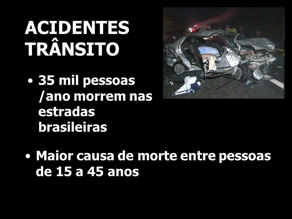 ACIDENTES TRÂNSITO 35 mil pessoas /ano morrem nas estradas brasileiras
