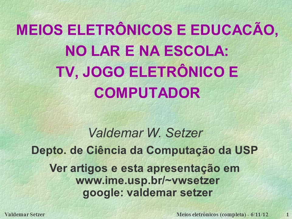 Depto. de Ciência da Computação da USP