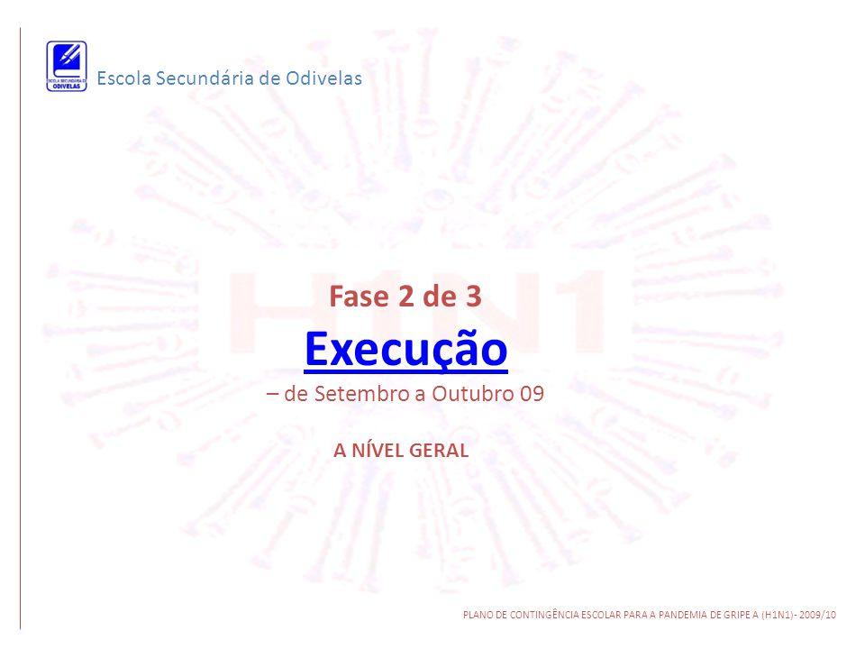 Fase 2 de 3 Execução – de Setembro a Outubro 09
