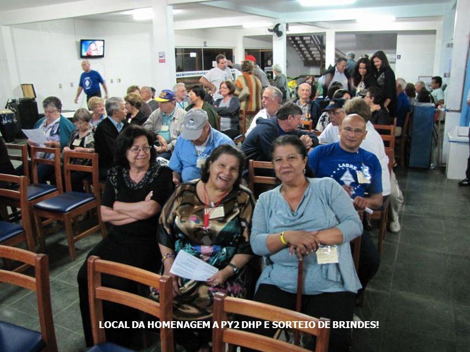 LOCAL DA HOMENAGEM A PY2 DHP E SORTEIO DE BRINDES!