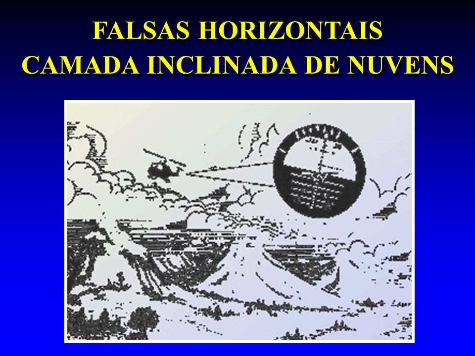 FALSAS HORIZONTAIS CAMADA INCLINADA DE NUVENS