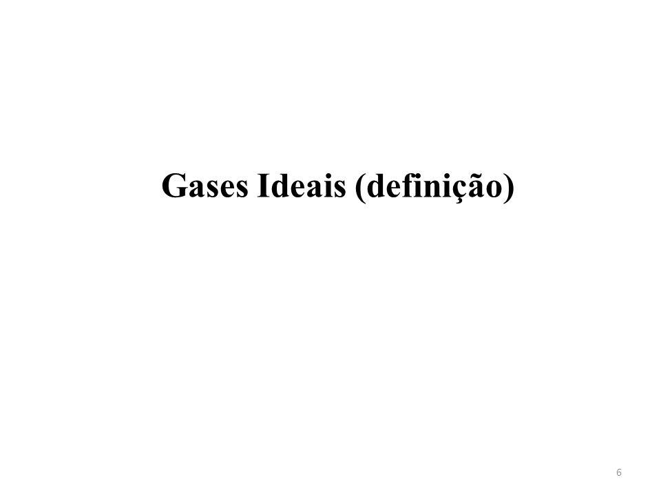 Gases Ideais (definição)