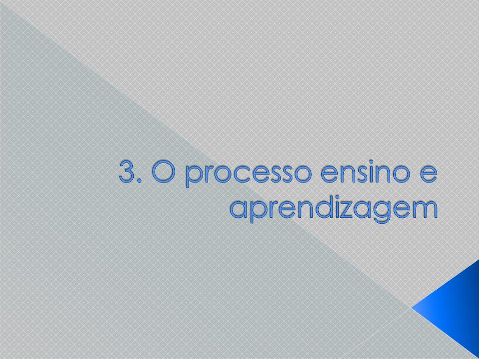 3. O processo ensino e aprendizagem