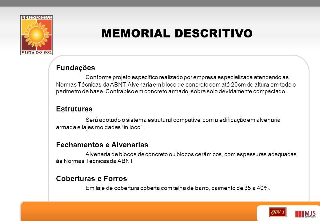 MEMORIAL DESCRITIVO Fundações