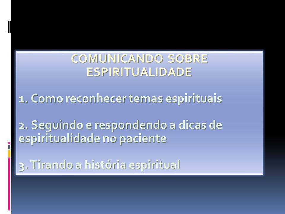COMUNICANDO SOBRE ESPIRITUALIDADE