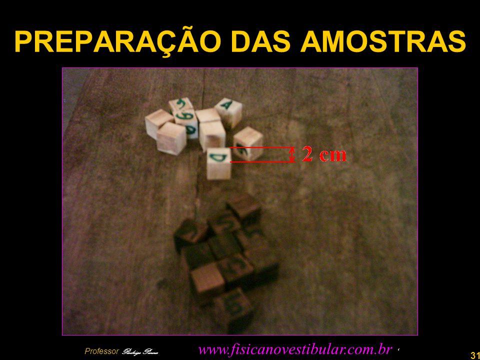 PREPARAÇÃO DAS AMOSTRAS