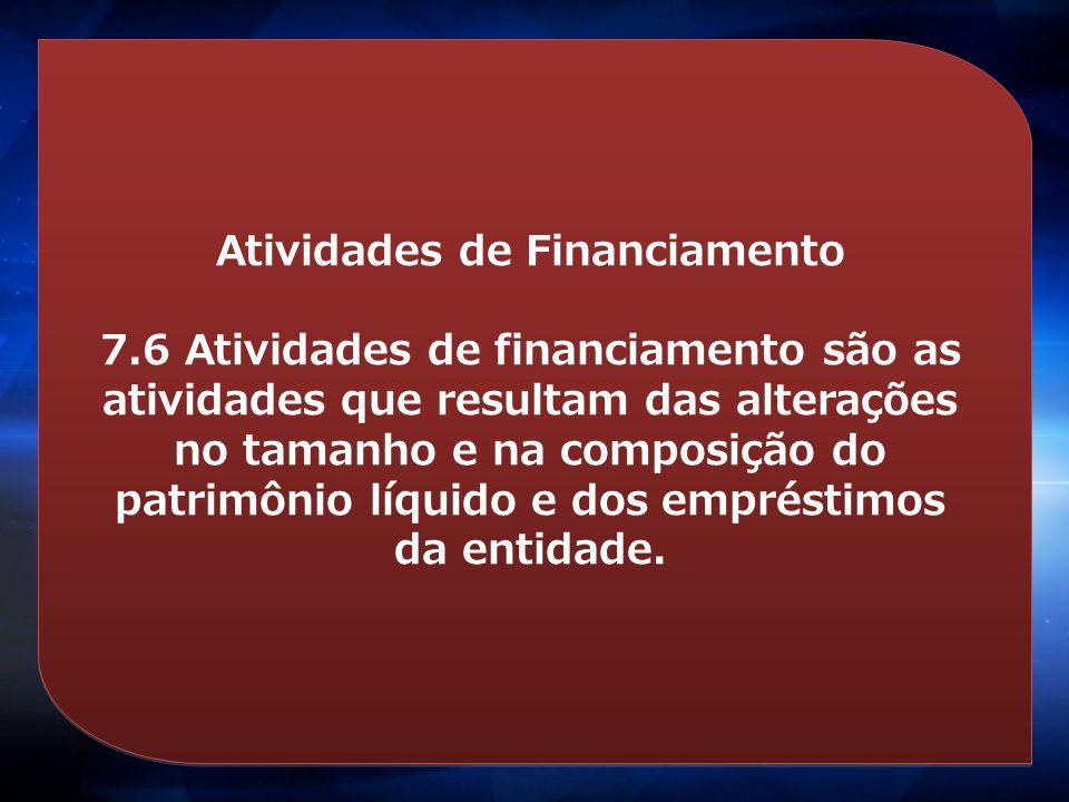 Atividades de Financiamento
