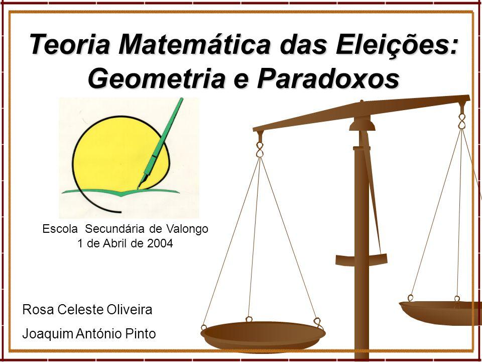 Teoria Matemática das Eleições: Geometria e Paradoxos